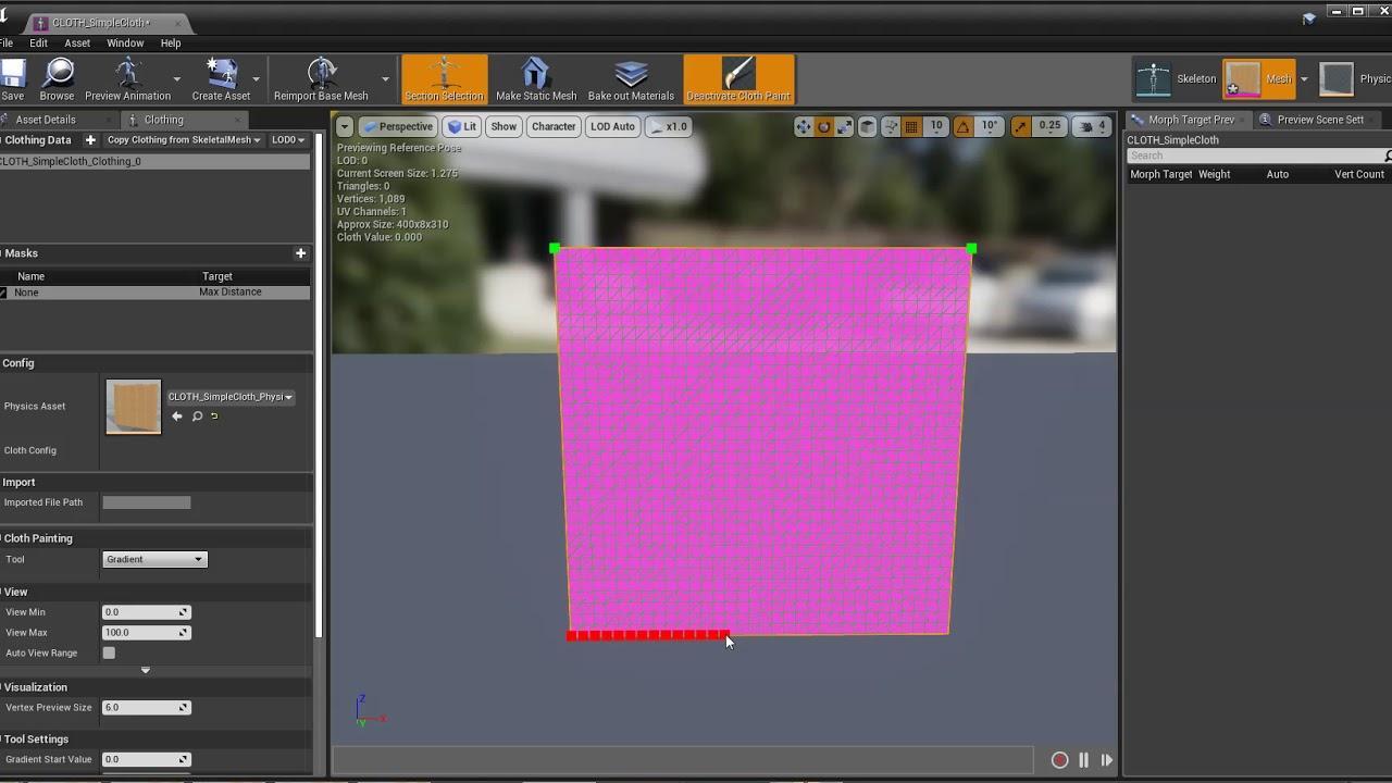 Clothing Tool | Unreal Engine Documentation