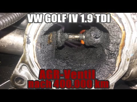 VW GOLF IV 1.9 TDI I AGR-Ventil (EGR-Valve) Nach 400.000 Km I Verkokung