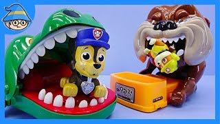 Paw Patrol Dentists and Bulldog & Alligator Toy play set. Paw Patrol mission paw episode.