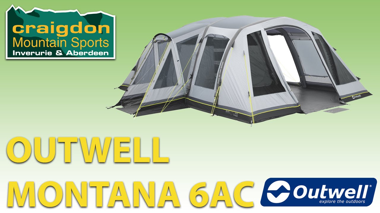 Craigdon Mountain Sports - Outwell Montana 6AC  sc 1 st  YouTube : montana tent and awning - memphite.com