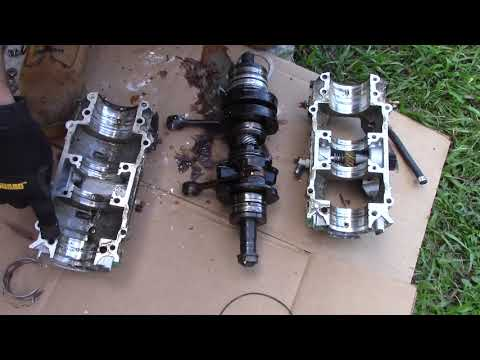 Seadoo 657 Engine Rebuild Bottom End Crankshaft 2 Stroke - YouTube