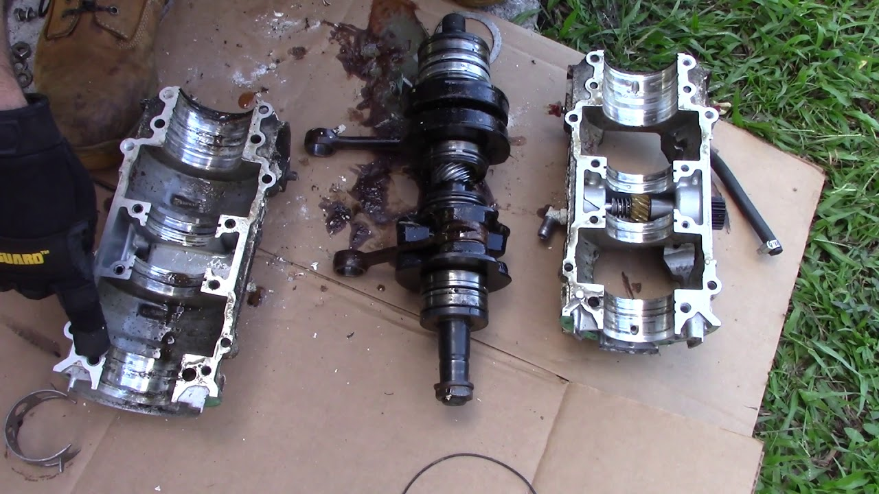 Seadoo 657 Engine Rebuild Bottom End Crankshaft 2 Stroke