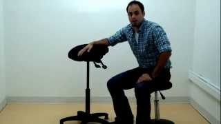 ergoCentric_Upholstered Ergonomic Sit Stand Stool