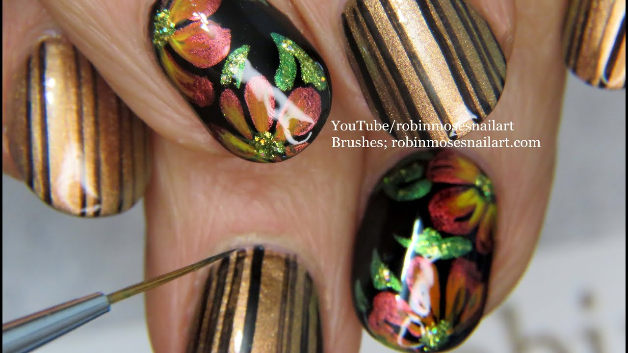 From Summer to Fall Nail Art Ideas | Easy Autumn Flower