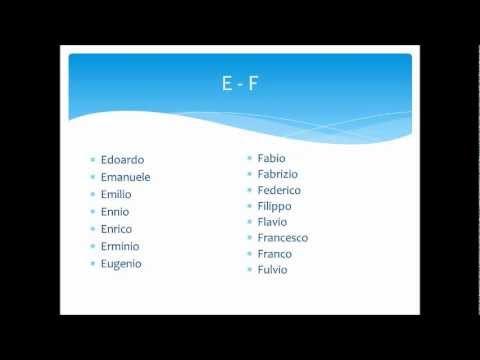 Italian names for boys