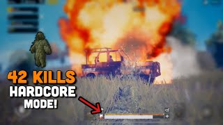 42 Kills In Hardcore Mode | PUBG Mobile | Military Base Is Crazy!