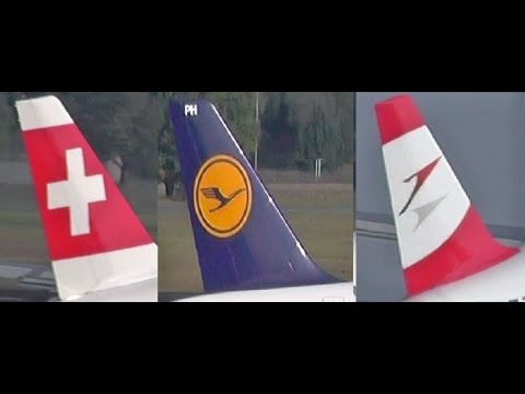 Lufthansa Group in Action - Lufthansa - Swiss - Austrian Airlines ready for takeoff