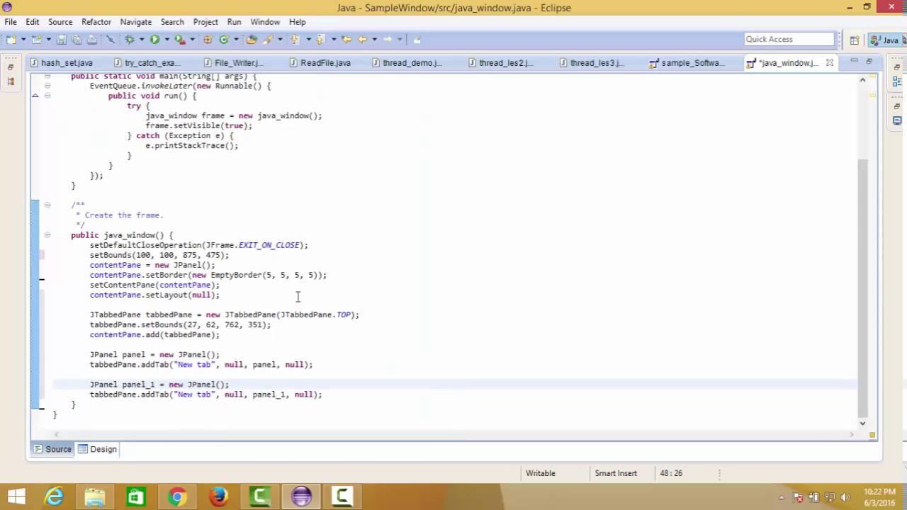 Java bangla tutorial part 11 how to create gui window in java java bangla tutorial part 11 how to create gui window in java eclipse baditri Gallery