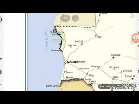 Flag Map Speed Art: Mauritania