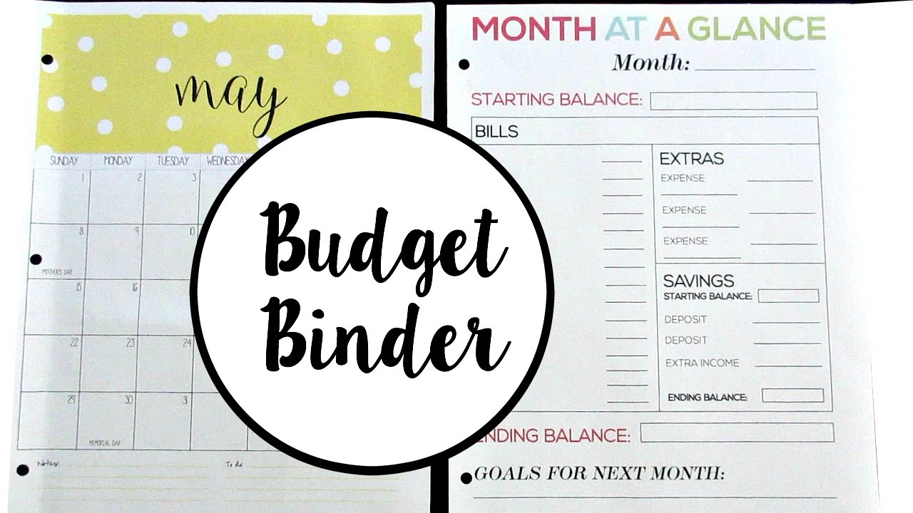 photo relating to Month at a Glance Budget named Keep track of Your Expending: My Fresh Funds Binder