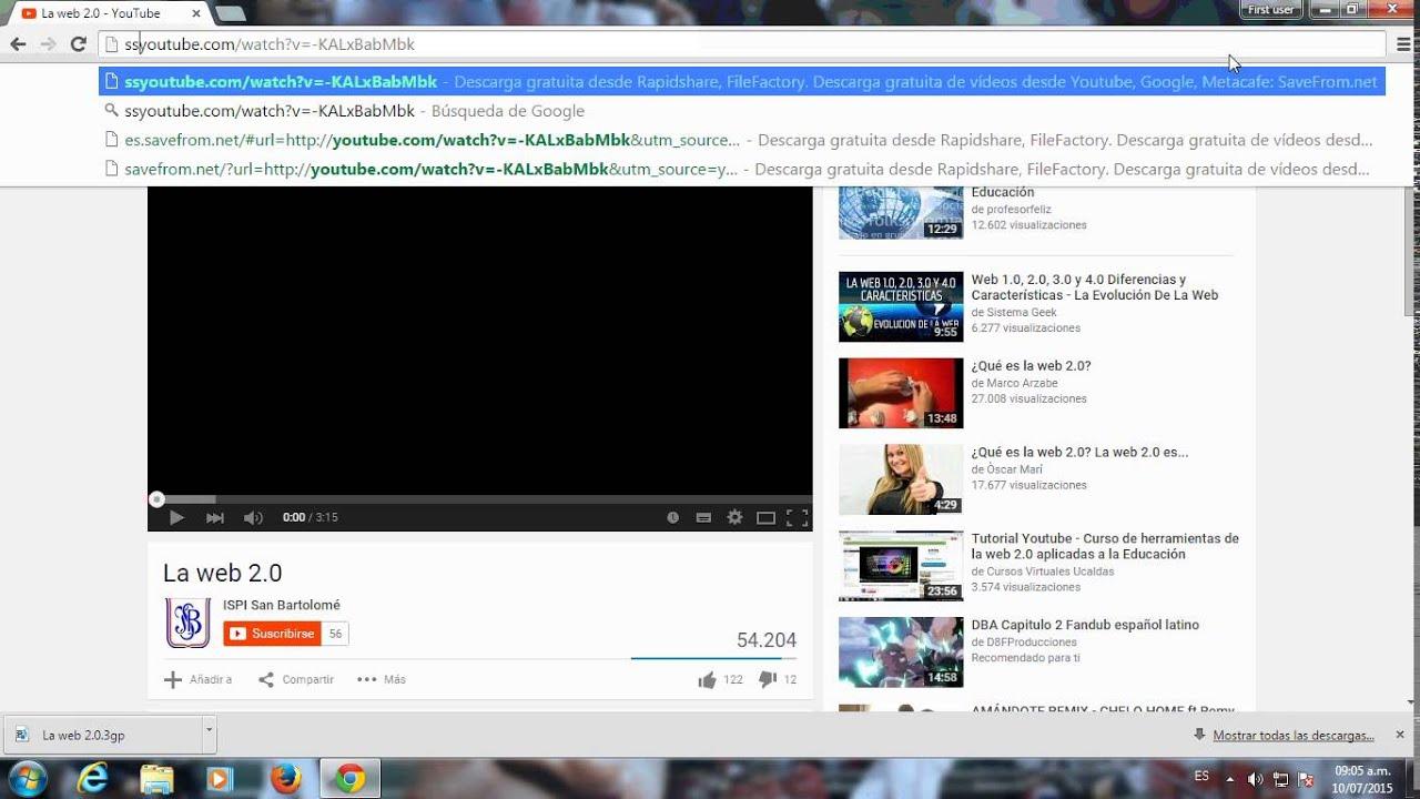 Como descargar Videos educativos de You tube Sin programas - YouTube