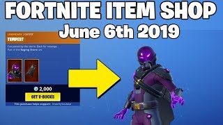 *NEW* Tempest SKIN!! - Fortnite Item Shop 6th of June (FORTNITE BATTLE ROYALE)