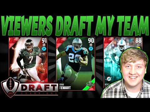 OH SNAP! | VIEWERS DRAFT MY TEAM! | MADDEN 16 DRAFT CHAMPIONS