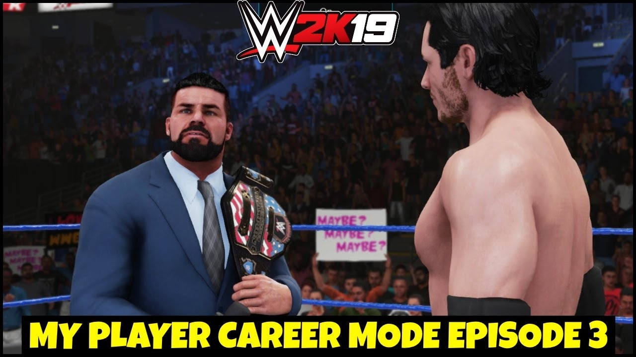 WWE 2K19 My CAREER MODE EPISODE 3 ! US Championship Match | EPISODE 3