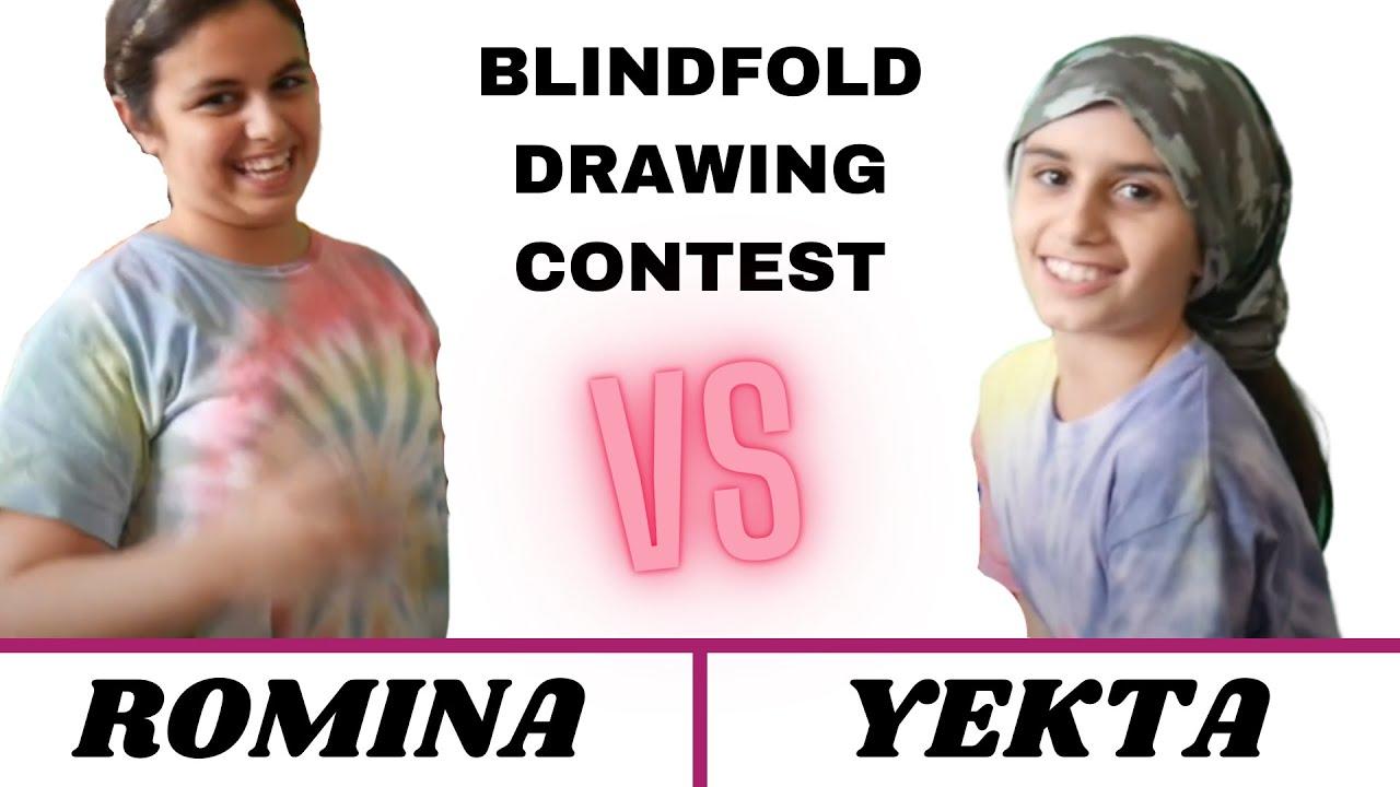 BLINDFOLDED DRAWING CONTEST | ROMINA VS YEKTA