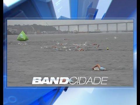 Maratona: Atletas nadam 18 km, entre a Praia do Tupé e a Ponta Negra