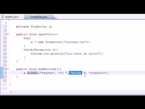 Java Programming Tutorial - 80 - Writing to Files