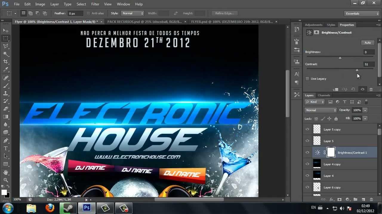 Speed art flyer photoshop cs6 youtube baditri Choice Image