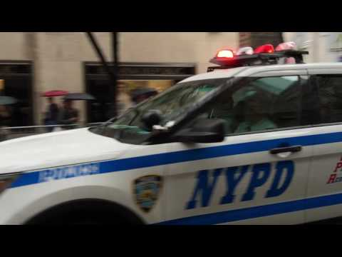 NYPD UNIT RESPONDING ON WEST 50TH STREET IN THE MIDTOWN AREA OF MANHATTAN IN NEW YORK CITY.