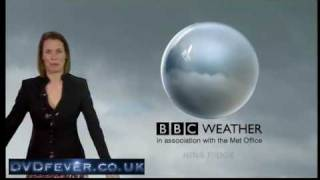 Nina Ridge can't get her weather graphics to work! (BBC News, 29.3.10)
