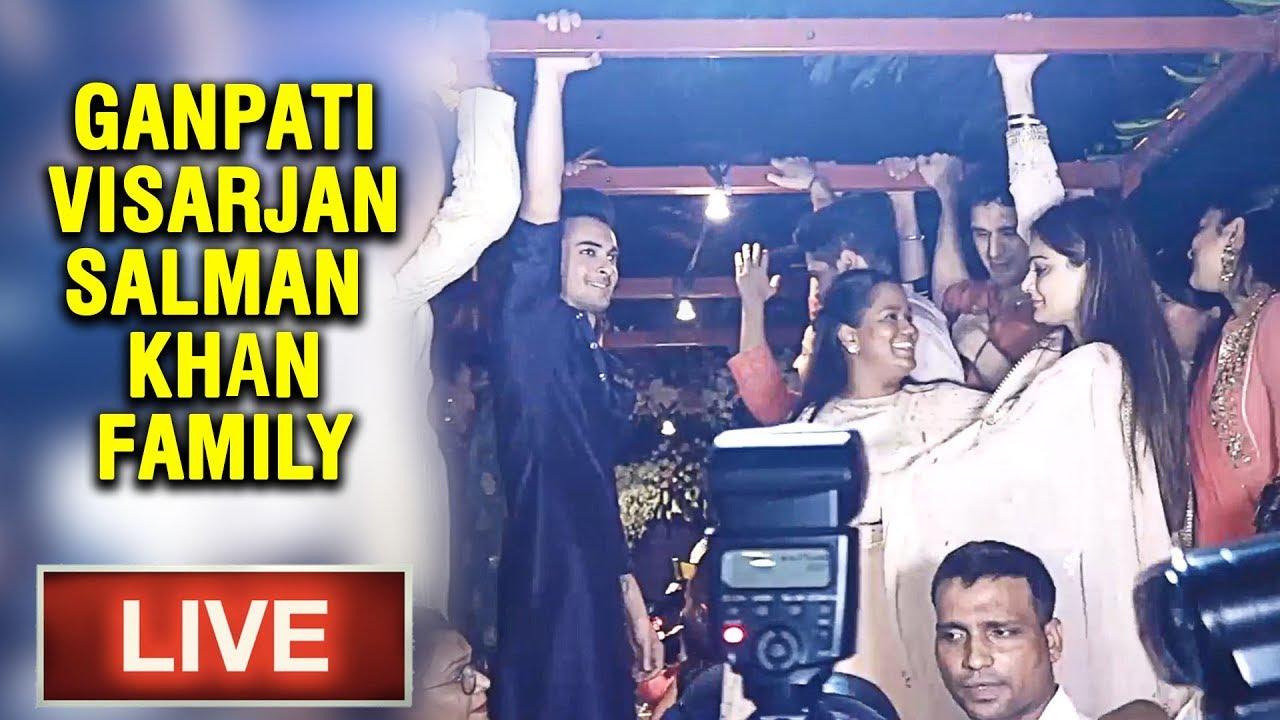 LIVE : Salman Khan Family Grand Ganpati Visarjan Celebration | Latest Updates | Salman Khan
