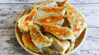 【三丰美食】锅贴其实很简单,一面蒸一面煎,比饺子香,酥脆鲜美,好吃又解馋