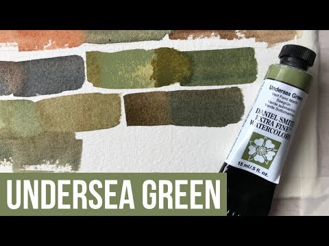 Undersea Green - Daniel Smith Watercolor | The Paint Show 23