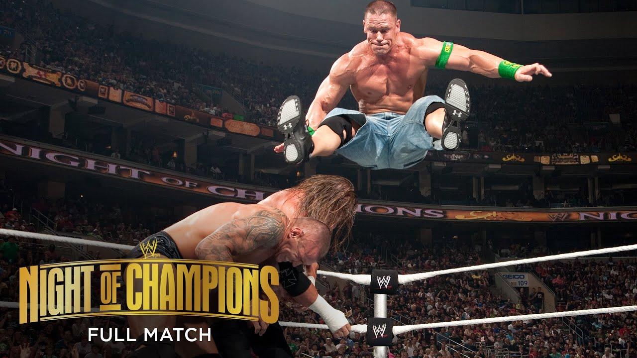 FULL MATCH: Randy Orton vs. John Cena vs. Triple H – WWE Title Match: WWE Night of Champions 2009 - YouTube