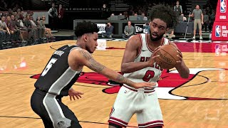 NBA 2K20 Gameplay - Chicago Bulls vs San Antonio Spurs – NBA 2K20 PS4