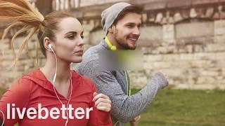 мотивирует идти бег трусцой Музыка стремится осуществлять