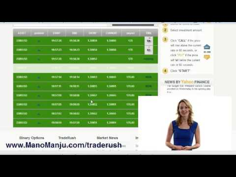 Traderush binary options youtube