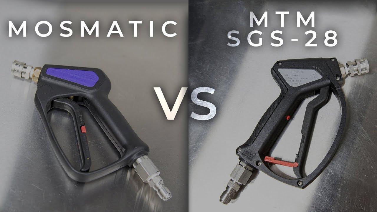 Comparing Swiveling Pressure Washer Short Guns: Mosmatic vs MTM