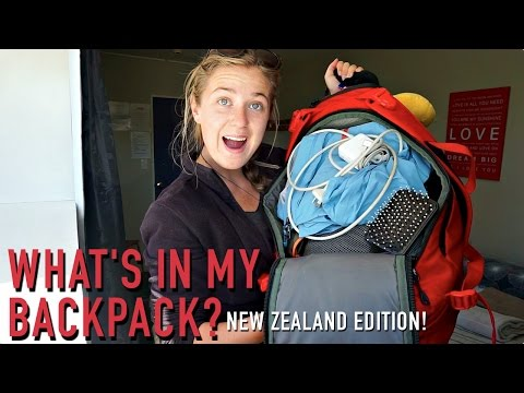 WHAT'S IN MY BACKPACK?? | New Zealand Edition