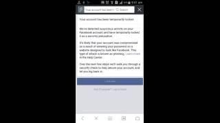 Facebook temporarily locked account Opan 2016