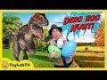 Life Size Raptor Dinosaur Chase & Surprise Toys Egg Hunt