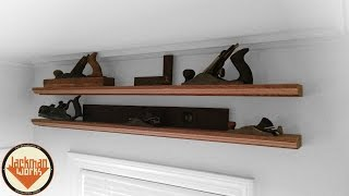 Simple Floating Display Shelves - Jackman Carpentry