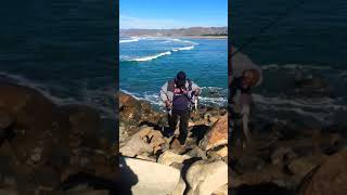 Morro Bay, CA. Surf Perch Fishing