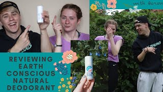 Reviewing Earth Conscious Natural Deodorant Stick