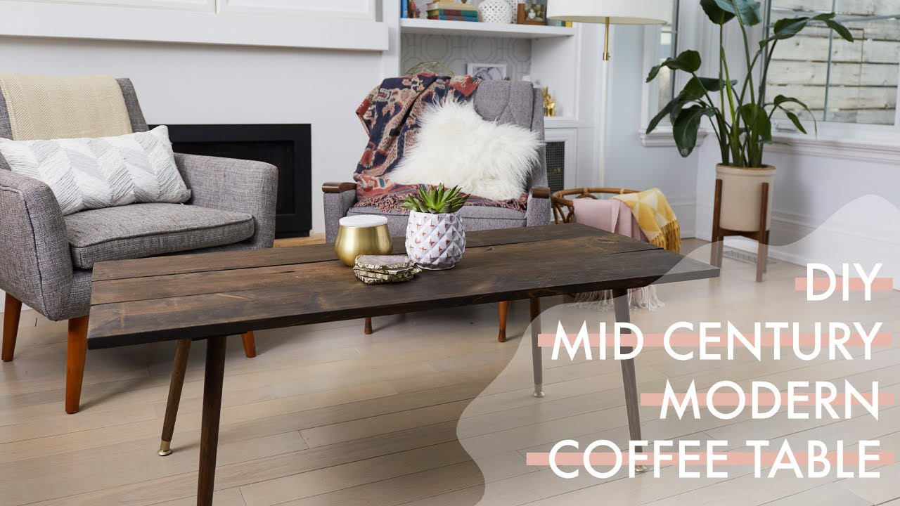 diy mid century modern coffee table the drill down with the sorry rh youtube com DIY Industrial Coffee Table Retro Coffee Table DIY