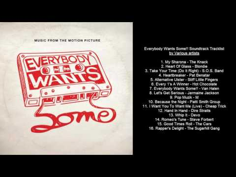 Everybody Wants Some Soundtrack Tracklist by Various Artists