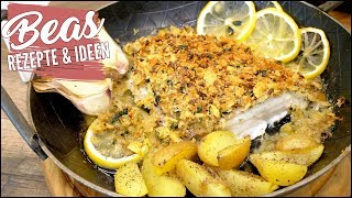 "Schlemmerfilet Rezept ""à la Bordelaise"" | Fischfilet mit mit extra krosser Kruste"