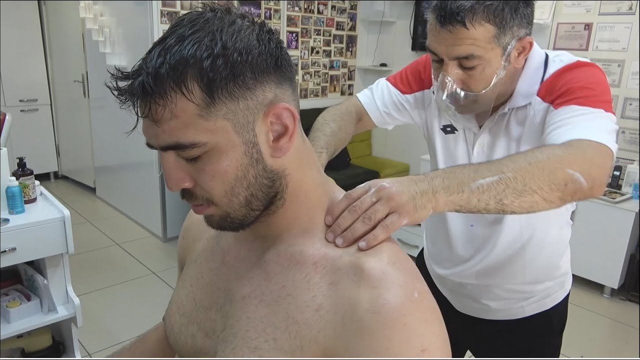 ASMR Turkish Barber By Münür Önkan Head,Face,Body,Back,Neck and Arm Massage