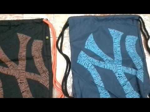 กระเป๋าเป้เชือกรูด NY Gym Sack สกรีน NY New York Yankees /Korn Online Shop