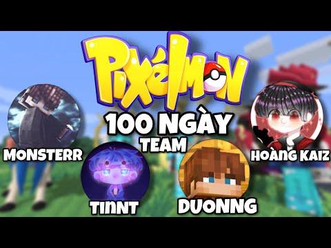 Tóm Tắt 100 Ngày Minecraft PIXELMON Sinh Tồn Cùng Đồng Bọn( TinNT,Monsterr,Hoàng Kaiz )
