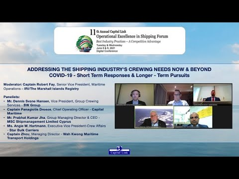 2021 11th Annual Operational Excellence in Shipping Forum - The Shipping Industry's Crewing Needs