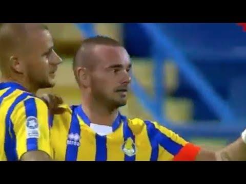 El golazo de vaselina de Sneijder en Qatar ⚽ Futbol Internacional ⚽ 2018 ⚽ HD