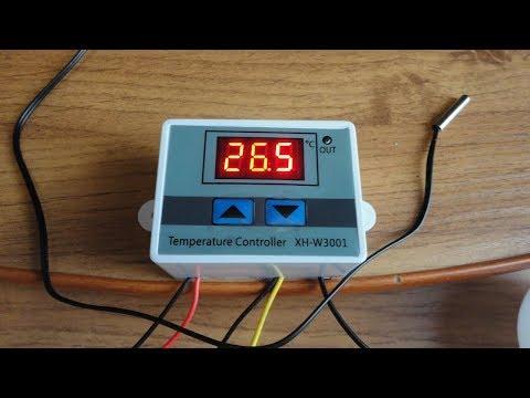 Терморегулятор XH W3001.  Посылка с АлиЭкспресс. #терморегулятор