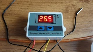 Терморегулятор XH W3001.  Посылка с АлиЭкспресс.