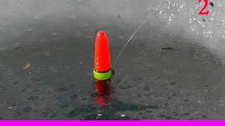 2-Покльовка ТАРАНІ взимку Ловля на поплавок. Січень. Бейсугский лиман. Насадка - підфарбована манка