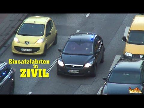 [Zivilfunkstreifen Polizei Hamburg] 22x auf Einsatzfahrt mit unterschiedlichen Fahrzeugtypen